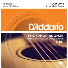 D'Addario EJ41 Phosphor Bronze 12-str. X-Light