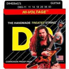 DR Dimebag Darrell Treated Nickel Plated Electric: 11, 14, 18, 28, 38, 50, Heavy