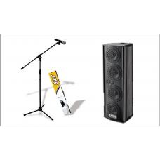Laney AH4x4 Multiforsterker med mic stativ og kabel.