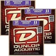 Dunlop Strenger Westerngitar Phosphor Bronze DAP1152 M. Light ( 3 pakker )