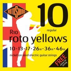 Rotosound R10 Roto Yellows  Regular 10-46