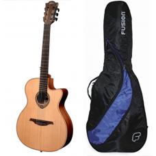 LAG TN170ASCE nylongitar med hals som elgitar! akustisk stålstrenger gitar