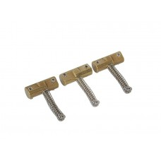 WILKINSON bridge saddles, brass, for B-WTB bridges, 3-pack