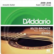 D'Addario EZ890 Super Ligh