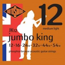 Rotosound JK12 Jumbo King Acoustic  Medium Light 12-54