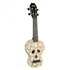 Mahalo Skull Ukulele White inkl. bag