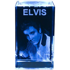 3D Elvis glass bilde