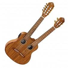 ORTEGA HYDRA. Twin-neck Tenor ukulele med softcase