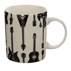 Headstock Guitar Porcelain Mug & Coaster Set