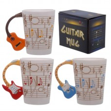 Ted Smith Ceramic Sheet Music Guitar Handle Mug