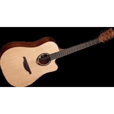 LAG T70DC Dreadnought cutaway akustisk stålstrenger gitar