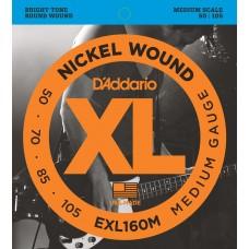 D'Addario EXL160M Medium/Medium Scale 050 070 085 105.