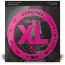 D'Addario ECB81 Light/Long Scale 045 065 080 100.