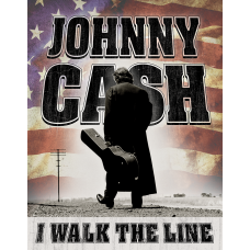 Cash Walk the Line metallskilt
