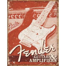 Fender Guitars & Amplifiers metallskilt