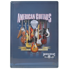 American Guitars metallskilt