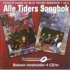 Alle tiders sangbok - Boks med 4 CD'er
