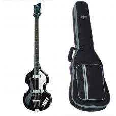 Hofner Violin Bass  Ignition  Black med Hofner gig bag!