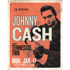 Cash & His Tennessee Two metallskilt