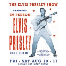 Elvis Presley Show metallskilt