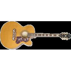 Epiphone EJ-200SCE Solid Top Vintage Natural akustisk stålstrenger gitar