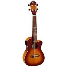 Ortega RUDAWN-CE Concert ukulele med mik. Earth, Dawn