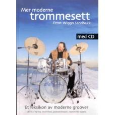 Mer moderne Trommesett bok m/CD Ernst Wiggo Sandbakk