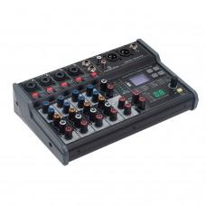 Soundsation MIOMIX 404FXM. 6 Channel Mixer, USB, Bluetooth, Digital Multi-Effect.