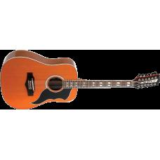 EKO Dreadnought, 12 string, Naturell Gitar
