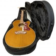 Epiphone EJ-200SCE Solid Top Vintage Natural akustisk stålstrenger gitar med Gator koffert