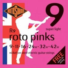 Rotosound R9 Roto Pinks  Super Light 9-42