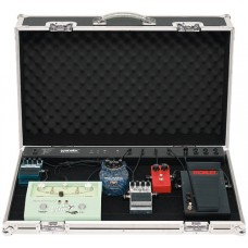 RockCase Flightcase Effects Pedalboard 76.5 x 48 x 8 cm Black with Power Supply